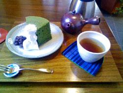 抹茶シフォンケーキセット