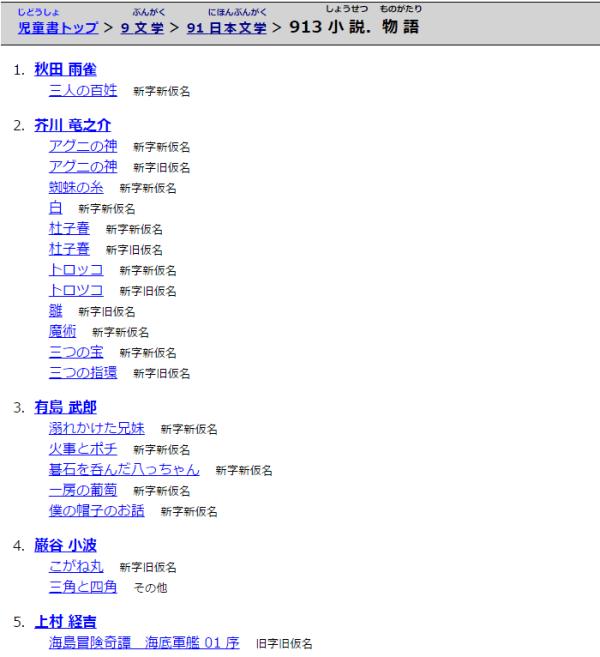 日本文学>小説、物語・913